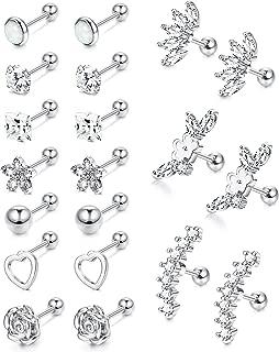 barbell earrings for men