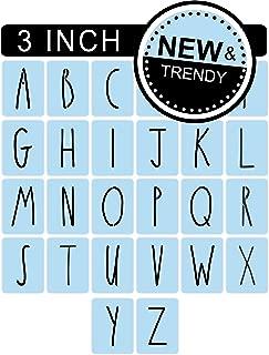Barn Star Rae Dunn Inspired Stencil Set, 3 Inch, Reusable Plastic, Full Alphabet