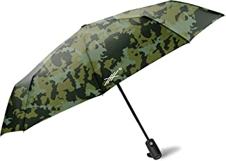 Travel Umbrella with Weatherproof Coating. Folds to 11.5 Inches. (Camo)