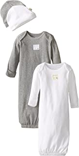 Unisex Sleeper Gown & Hat Set, One Size, 0-6 Months, 100%...