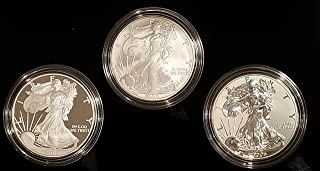 2006 Various Mint Marks American Eagle Three Coin Set 20th Anniversary Original Mint Packaging