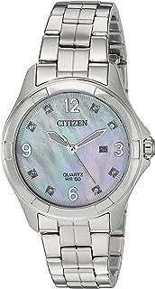 Women's Quartz Stainless-Steel Strap, Silver, 13.8 Casual Watch (Model: EU6080-58D)