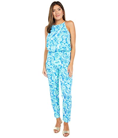 Lilly Pulitzer Keeran Jumpsuit (Seaglass Aqua Seeing Double) Women