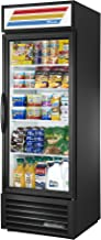 True GDM-23-HC-LD Single Swing Glass Door Merchandiser Refrigerator with Hydrocarbon Refrigerant and LED Lighting, Holds 33 Degree F to 38 Degree F, 78.625