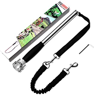 Newurban Dog Bike Leash, Easy Installation Removal Hand Free Dog Bicycle Exerciser Leash for Exercising Training Jogging C...