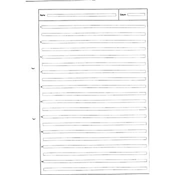 Schreibblock A4 Lineatur 3 50 Blatt 80g Qm 2 Fach Gelocht 3 Schuljahr Lin3 Amazon De Burobedarf Schreibwaren