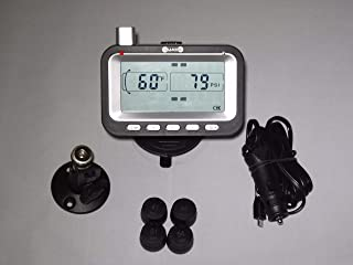 BELLACORP Tire Pressure Monitoring System TPMS (4) Sensors (Including Free $50.00 Repeater) for Fifth Wheel, Trailer, Camper, Car, Truck, 4x4, or RV,