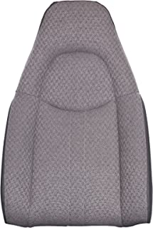 The Seat Shop Work Van Driver or Passenger Top Replacement Seat Cover - Medium Dark Pewter (Gray) Cloth (Compatible with 2003-2009 Chevrolet Express and GMC Savana)