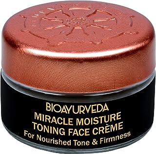 BIOAYURVEDA Miracle Toning Face Cream-Tightening and Brightening All Skin, Organic Day & Night Cream Moisturizer for Facial Tone & Glow| Heals Acne, Pores, Dark Circles, Fine Lines, Blemish (0.7 oz)