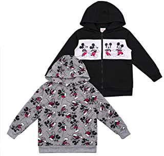 Disney 2-Pack Toddler and Boys Cars, Puppy Dog Pals, and Mickey Mouse Hoodie Apparel