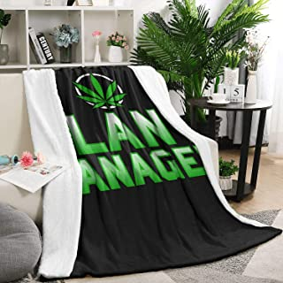 Unicorns Farting Flannel Blanket for Couch or Bed Cozy Non Shedding Lightweight Marijuana Weed Pot Plant Manager Home Throw Blanket