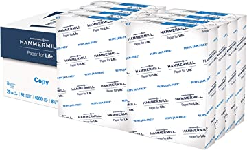 Hammermill 20lb Copy Paper, 8.5 x 11, 8 Ream Case, 4,000 Sheets, Made in USA, Sustainably Sourced From American Family Tre...