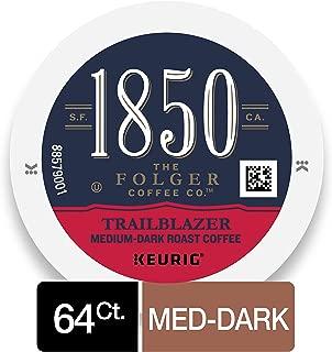 1850 Trailblazer Medium-Dark Roast Coffee, 64 Count K Cups for Keurig Makers
