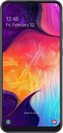 "Samsung Galaxy A50 2019 Smartphone, Display 6.4"" 128 GB Espandibili, Dual Sim, Nero [Versione Italiana]"