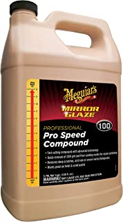 Meguiar's Mirror Glaze Pro Speed Compound – Removes Deep Scratches & Severe Swirls – M10001, 1 gallon