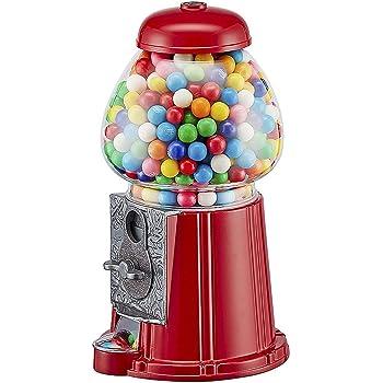La Chaise Longue 25-1271R Distributeur de chewing-gum r/étro Tirelire Rouge et transparent M/étal et verre Grand mod/èle H28 cm
