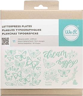 We R Memory Keepers American Crafts Lot de 11 Assiettes imprimées Motif Fleurs Sauvages en Acrylique Multicolore 1,27 x 1...