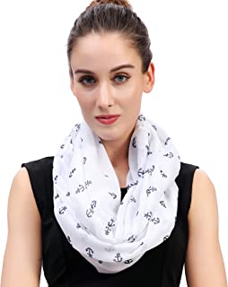 Lina & Lily Vintage Anchor Print Women's Infinity Circle Scarf