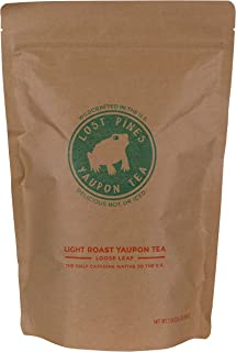 1lb Light Roast Yaupon Tea by Lost Pines Yaupon Tea - Sustainably wild harvested yaupon, the only caffeinated plant native to North America