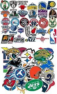 Ratgoo Waterproof Graffiti Stickers of 31 Pcs NBA Basketball Team Logo 32 Pcs NFL Football Teams Logo for Kids Children and Adult for Laptop Water Bottle Car Bumper Motorcycle Helmet Luggage Case Guit