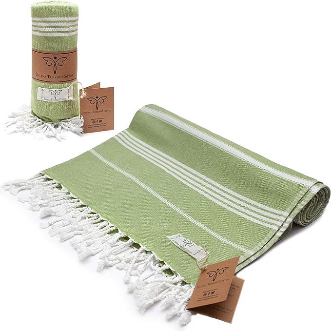 green practical towel