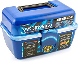 South Bend WG-TB88-B Wormgear 88Pc Ld D Tackle Bx Blue