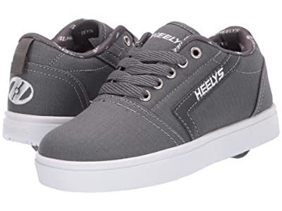 Heelys GR8 Pro (Little Kid/Big Kid) (Charcoal/White/Rip Stop) Boys Shoes