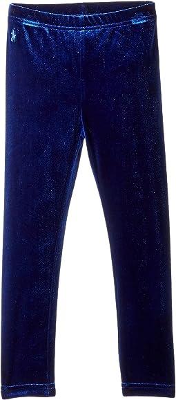 Polo Ralph Lauren Kids - Stretch Velvet Leggings (Little Kids)