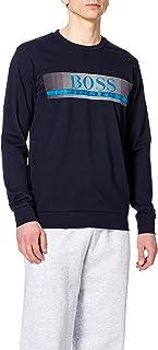 BOSS Mens Authentic Sweatshirt French-Terry Loungewear Sweatshirt with Heat-Sealed Logo