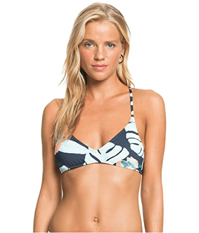 Roxy Printed Beach Classics Athletic Bikini Top Women