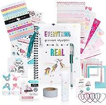 DIY Unicorn Journaling Set/Scrapbook Kit for Girls - Includes Bullet Journal & Scrapbooking Supplies Plus 3D Interactive G...