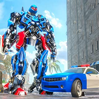 Future Robot Bike Rider & Car Driver Gangster Chase: Thrilling Futuristic Survival Hero Robot Action & Adventure Game 3D 2019
