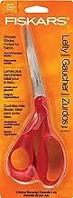 Fiskars 12-94508697WJ 8 Inch Left Handed Adult Scissors, Orange