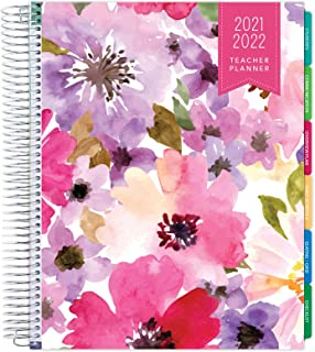 "$34 » Deluxe 2021-2022 Dated Teacher Planner: 8.5""x11"" Includes 7 Periods, Page Tabs, Bookmark, Planning Stickers, Pocket Folder..."