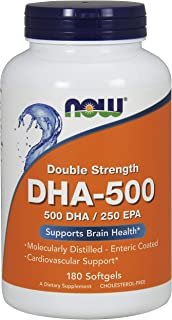 Now Supplements, DHA-500, Molecularly Distilled, 180 Softgels