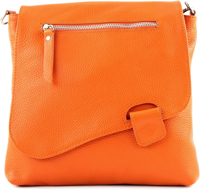 modamoda de - messager ital/sac à bandoulière en cuir T146 Orange