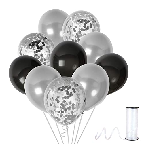 Black Silver Birthday Decorations Amazon
