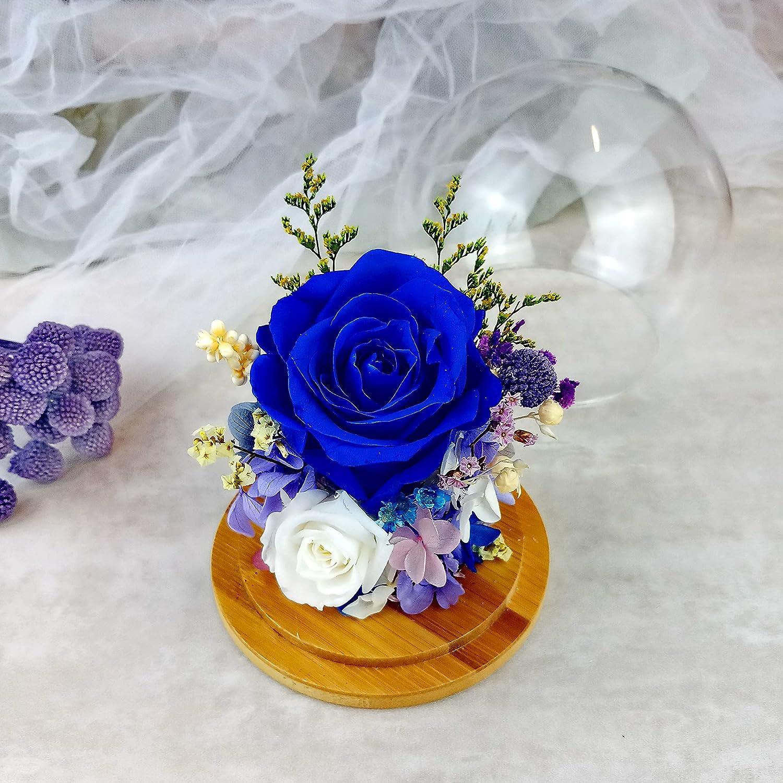 Eternal rose Ranking TOP6 glass dome Preserved flower gift Va her for half