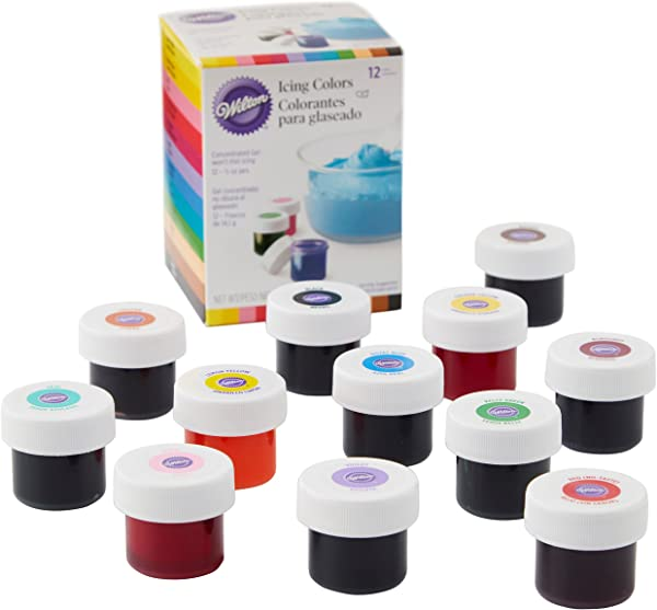 Wilton Icing Colors 12 Count Gel Based Food Color