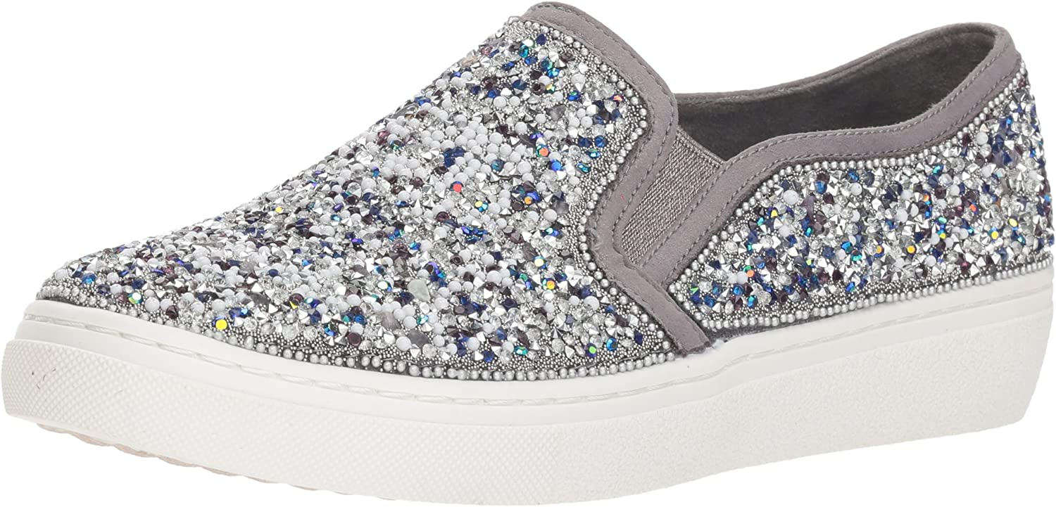 Skechers Womens goldie - Rock Show. Scattered Rhinestone and Beads Slip on Sneaker