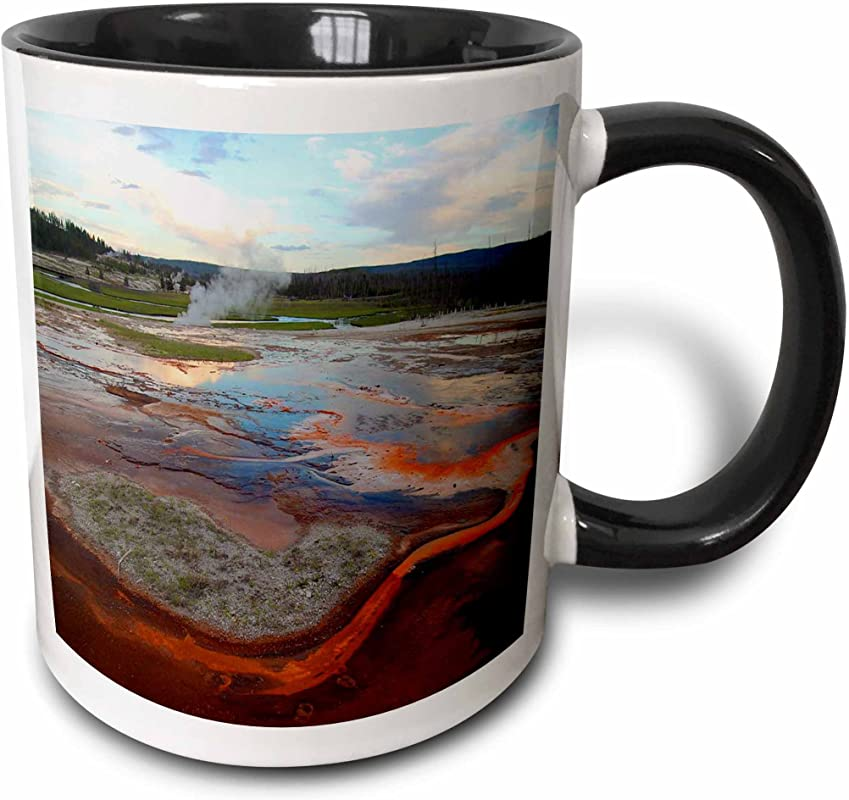 3dRose 17293 4 Biscuit Basin Yellowstone National Park Mug 11 Oz Multicolor