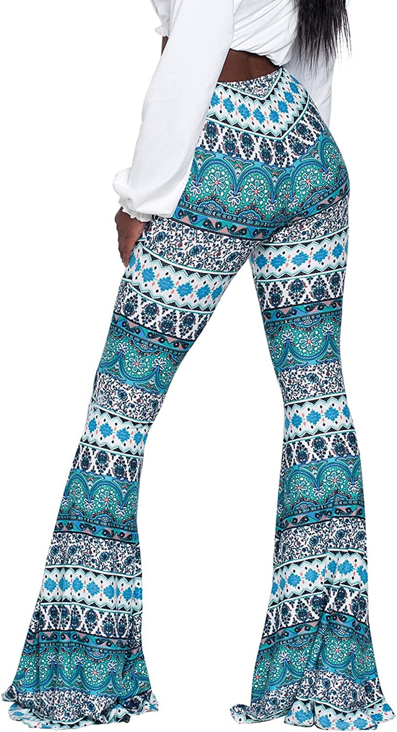 Govc Women Casual Print Stretchy Special sale item Palazzo Bottom Flare Bell price Skinn