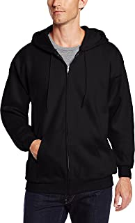 Hanes Men's Full Zip Ultimate Heavyweight Fleece Hoodie, Black, X-Large