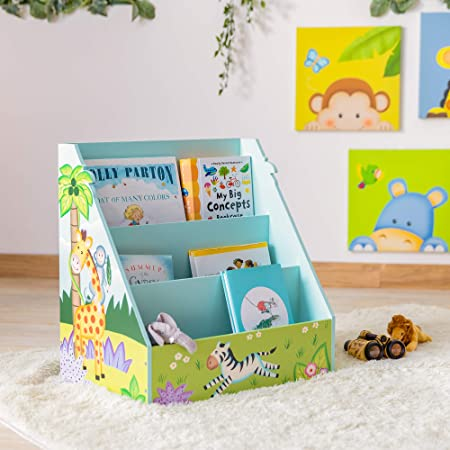 Fantasy Fields Meuble de Rangement Livres Magazines étagère bibliothèque Enfant garçon Sunny Safari TD-13141A