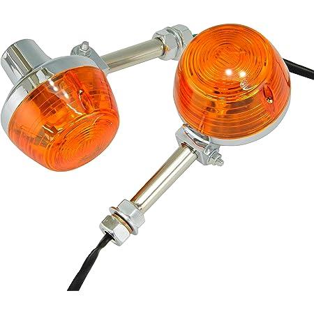 Ager CB系 ホーク ウインカー バルブ ステー付き オレンジ 汎用 2個