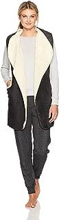 Women's Sleeveless Sherpa Fleece Hooded Robe
