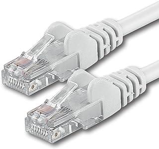 15m - Blanco - 1 Pieza - Cable de Red Ethernet con Conectores RJ45 CAT6 Cat 6 Cat.6 1000 Mbit/s