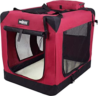 """EliteField 3-Door Folding Soft Dog Crate, Indoor & Outdoor Pet Home, Multiple Sizes and Colors Available (36"""" L x 24"""" W x ..."""