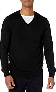 Men's Classic Solid V-Neck Sweater