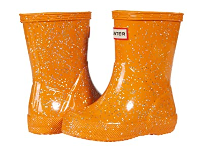 Hunter Kids Original First Classic Giant Glitter Wellington Boots (Toddler/Little Kid) (Amber Creek) Kid